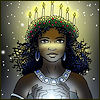cereta: Beautiful dark skinned girl in the traditional garb of St. Lucia (St. Lucy, by Kivitaskula)