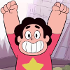 buzzy: Steven Universe from the show of the same name with a big smile (Excited, Steven Universe 3)