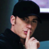 batdina: steve rogers with his finger on his lips (it's a secret)
