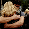 spatz: Clarke and Bellamy hug from 2x05 (100 Clarke-Bellamy hug)