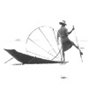 quillori: Photo of an Intha fisherman on Lake Inle, Burma (country: burma, stock: Intha fisherman, theme: travel (rower))