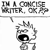 elbiesee: (Calvin concise writer)