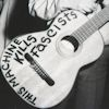 "theleaveswant: acoustic guitar with words ""this machine kills fascists"" written on it; cropped from photo of Woody Guthrie (this machine kills fascists)"