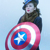 kass: Peggy Carter with Cap's shield (Peg-shield)