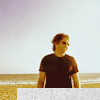 sarken: hank moody on the beach ([californication] i like to let it go)
