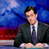 sarken: stephen colbert at his desk ([fake news] sad panda)