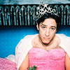sarken: jon in a pink dress ([fake news] prom queen)