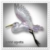 1000_egrets: (egret pin)