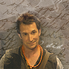 """tinny: Flynn Carsen from the Librarians with an orange wooden beads necklace. """"I did"""" (come back alive) (librarians_flynn with beads i did)"""