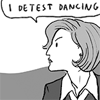 "st_aurafina: Comic of Scully, saying ""I detest dancing"" (X-Files: Scully detests dancing)"