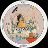 alexseanchai: a woman bathing in a pond (tarot Motherpeace Star)