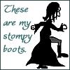 felaine: (stompy boots)