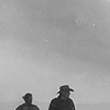 tree: vic and walt as silhouettes in black and white ([longmire] for the restless)