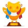 polyglotting: Image of the DuoLingo 'trophy' for completing its French course. (DuoLingo: French Trophy)