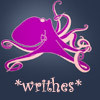 "thefourthvine: Happy cephalopod with the text ""*writhes*."" (Writhes)"