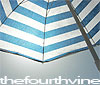 "thefourthvine: Beach umbrella, with text ""thefourthvine."" (TFV umbrella)"