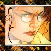 thefourthvine: Batgirl looking thoughtful.  (Batgirl in glasses)
