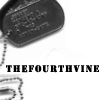 "thefourthvine: Dogtags with text ""thefourthvine."" (TFV dogtags)"