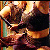 thefourthvine: Ronon and Teyla, stick-fighting. (SGA Sex and Fighting)