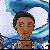cereta: dark-skinned woman with cat's cradle (Anjesa)