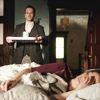 ingo: sherlock bringing joan watson breakfast (breakfast in bed)