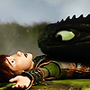 fiercynn: Toothless and Hiccup wrestling [from How to Train Your Dragon 2] (dragons and vikings! enemies once more!)