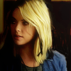 fiercynn: Hanna Marin with her tips dyed black [from Pretty Little Liars] (we'll always have the Rosewood jacket)