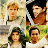 fiercynn: Arthur, Morgana, Gwen, and Merlin [from Merlin] (OT4 of my HEART)