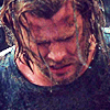 whatfollowsthunder: Thor, kneeling in defeat after being unable to lift Mjolnir (Far from home)