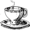 jayparaphrased: black and white sketch of a delicate teacup and saucer (Tea) (Default)