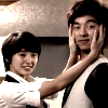 china_shop: Eun Chan holding Han Gyul's face, both turned towards camera - cuteness! (Kdrama - Coffee Prince)