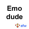 "pauamma: EFW Emo dude - black on white (""EFW Emo dude - black on white"")"
