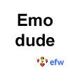 "pauamma: EFW Emo dude - black on white (""EFW Emo dude - black on white"")"