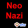 "pauamma: EFW Neonazi - red on black (""EFW Neonazi - red on black"")"