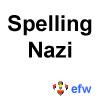 "pauamma: EFW Spelling nazi - black on white (""EFW Spelling nazi - black on white"")"