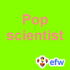 "pauamma: EFW Pop scientist - watermelon on dayglow green (""EFW Pop scientist - watermelon on daygl)"