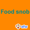 "pauamma: EFW Food Snob - turquoise on orange (""EFW Food Snob - turquoise on orange"")"