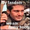 fatorangekat: my fandom wears army boots (My Fandom)