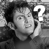 angelbabe_cj: David Tennant as The Doctor looking confused with a superimposed question mark by him. (doctor confused)
