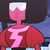 such_heights: a large brown woman with an afro and sunglasses looking stoic (su: garnet)