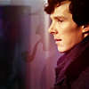 kylara: Benedict Cumberbatch's Sherlock Holmes with the classic Holmesian pipe-smoking shadow ([SH] BC Sherlock Shadow)