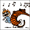 nerakrose: calvin and hobbes dancing in joy (hellfuckingyes)