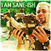 "apollymi: Jensen playing with the homemade monsters,  text reads ""I am sane-ish"" (Losers**Jensen: Sane-ish)"