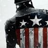 ponderosa: View of Captain America's original shield on his back. (marvel - oldschool shield)