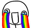 kerithwyn: Rainbow tears of fandom love (Rainbow tears)