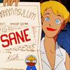 catecumen: Harley Quinn holding up her certificate of sanity (sane)