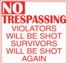larf: (no trespassing)