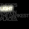 "revolutions: Text icon reading ""There's light even in the darkest places"". (light in the darkest places)"