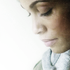 monanotlisa: claire temple profile, her looking down, milky-white light on the left (claire temple - daredevil)