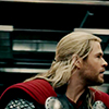 longwhitecoats: Thor in his cape seen in close profile (Thor)